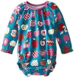 Hatley Baby Girls 0-24m Long Sleeve One Piece-Orchard Apples Bodysuit