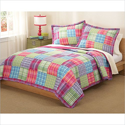 Kelsey Pink Full / Queen Quilt With Two Shams front-27290