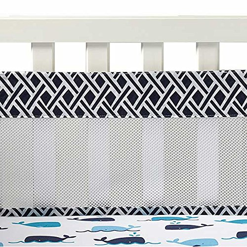 Whale Of A Tale Secure Me Mesh Crib Liner