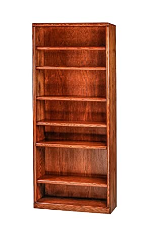Forest Designs Bullnose Oak Bookcase: 36W X 84H X 13D 84h Black Alder