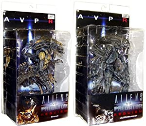 "Alien Vs. Predator: Requiem 7"" Figure Series 1 Set of 2 : Alien Warrior, Hybrid"