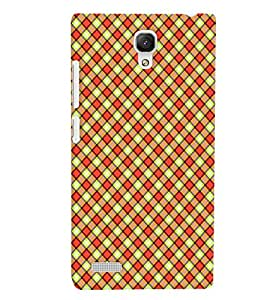 PrintVisa XIREDMINOTE-Corporate Print & Pattern Checks Back Cover (Multicolor)