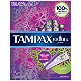 Radiant plastic Super absorbency unscented tampons 16ct