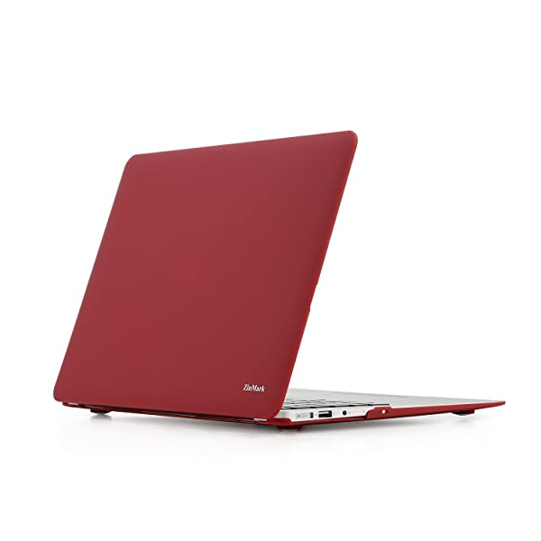 Zinmark 13 Inch Laptop Case Cover, Compatible with MacBook Air 13.3 Inch A1369 / A1466, Plastic Folio Hard Cover Case - Burgundy (Color: Burgundy, Tamaño: MacBook Air 13 NO CDROM)