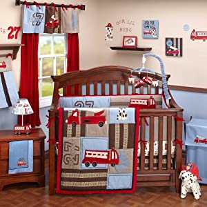 Engine 27 6 Piece Baby Crib Bedding Set by Nojo
