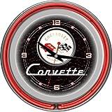 Trademark Corvette C1 14-Inch Diameter Neon Clock (Black)
