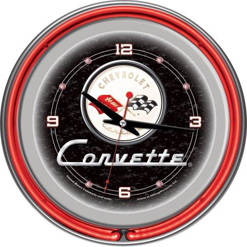 chevrolet-corvette-chrome-double-ring-neon-clock-14-by-trademark-gameroom