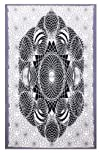 Sunshine Joy® Dark Lotus Geometric Design Tapestry – 60×90 Inches – Beach Sheet -Hanging Wall…