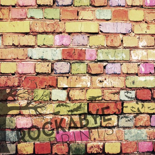 Photography Backdrop / Floordrop - 5Ft X 5Ft Multicolored Brick - Durable Vinyl Backgroud front-887774