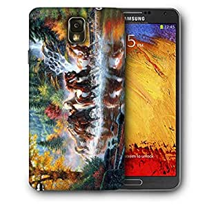 Snoogg Abstract Art Of Horse Printed Protective Phone Back Case Cover For Samsung Galaxy NOTE 3 / Note III