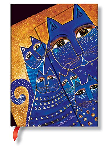 Mediterranean Cats Midi Lined Journal (Smythe Sewn Laurel Burch)