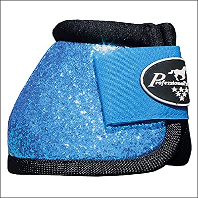Medium Professional Choice Sports Horse Medicine Boots Bell Ventech Elite Glitter Blue Pack Of 6