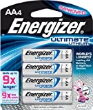 Energizer AA Lithium Batteries 4 count, Lasts 9 Times Longer