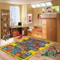 Mybecca ABC BLOCKS Chilrens Area Funtime Playtime Rugs 3' X 5, 5' X 7', 8' X 11'