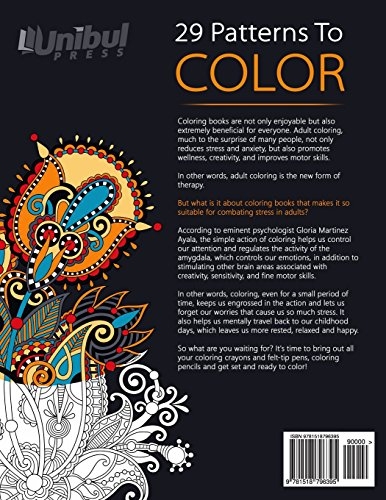 Adult Coloring Book: Coloring Book for Adults with Patterns, Henna Flowers and Mandala (Creativity, Stress Relieving, Mandala, Patterns, Doodles)