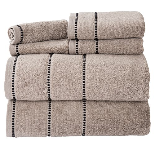 lavish-home-quick-dry-100percent-cotton-zero-twist-6piece-towel-set-taupe