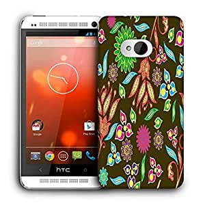 Snoogg Colorful Petals Printed Protective Phone Back Case Cover For HTC One M7
