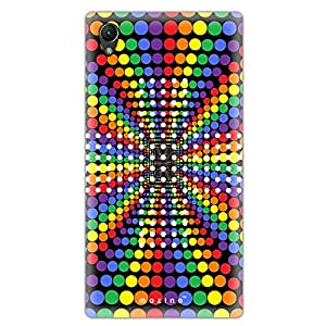 Mozine Rainbow Dots printed mobile back cover for Sony xperia z4