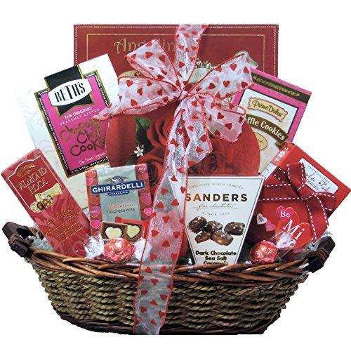 GreatArrivals Gift Baskets My Sweet Valentine-Valentine's Day Sweets and Chocolate Gift Basket, 1-Count