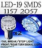 2 pcs Super BLUE 19 Led Bulbs For Turn Signal Light 1157 2057 Fast Shipping