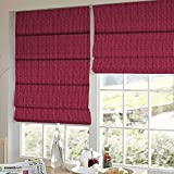 Presto Bazaar Maroon Stripes Jacquard Window Blind (96 Inch X 44 Inch)