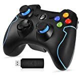 EasySMX 2.4G Wireless Controller for PS3, PC Gamepads with Vibration Fire Button Range up to 10m Support PC (Windows XP/7/8/8.1/10), PS3, Android, Vista, TV Box Portable Gaming Joystick Handle (Color: PCH-036)