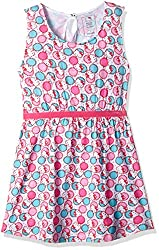 Hello Kitty Girls' Dress (HT0EDR1484_Candy Pink_7 - 8 years)