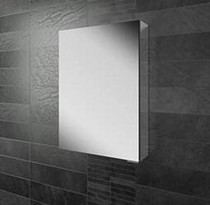 Eris 50 Single Door Mirror Bathroom Cabinet With Mirrored Sizes 50 cm