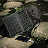 Poweradd™ 7W Foldable Solar Panel Portable Solar Charger for iPhones, Samsung Galaxy Phones, other Smartphones, External battery Packs, GPS, Bluetooth Speakers, Gopro Cameras and More