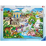 Ravensburger 06661 - Besuch im Zoo 30-48 Teile Rahmenpuzzle