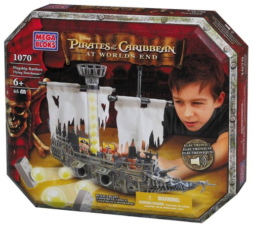 Disney's Pirates of the Caribbean At World's End Flagship Battlers Flying Dutchman Mega Bloks 1070