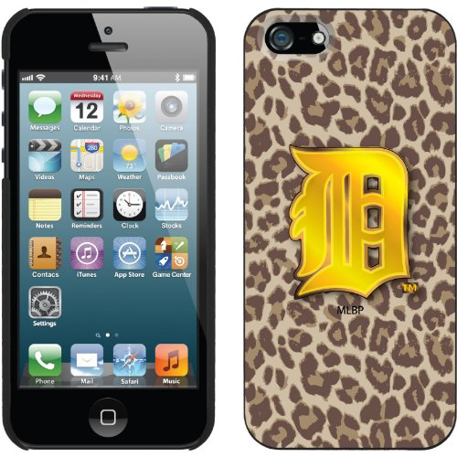 Best Price Detroit Tigers - Leopard Print design on a Black iPhone 5s / 5 Thinshield Snap-On Case by Coveroo