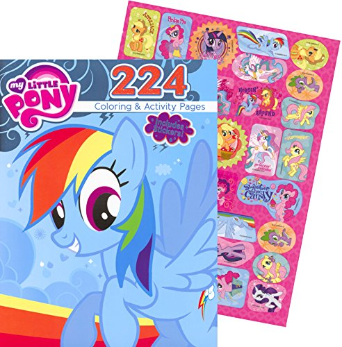 My Little Pony Giant Coloring and Activity Book with Stickers (224 Pages) - 1