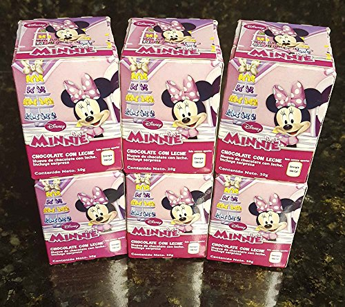 6 pack Disney Minnie chocolate eggs