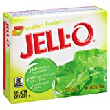 Jell-O Melon Fusion Gelatin Mix 3 Ounce Box