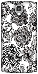 The Racoon Lean zentangle roses hard plastic printed back case for Lenovo A1000