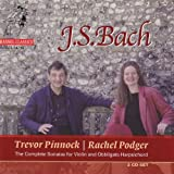 Bach: Complete Sonatas for Violin and Obbligato Harpsichord / Pinnock, Podger