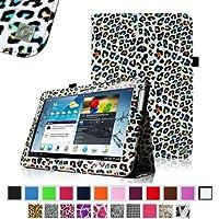 Fintie Slim Fit Folio Case Cover for Samsung Galaxy Tab 2 10.1 inch Tablet - Leopard Rainbow by Fintie