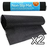 SET OF 2 MULTI-PURPOSE NON SLIP MATS - IDEAL TO USE AT HOME & OFFICE, CARS, CARAVANS - 2 ANTI SLIP MAT ROLLS - KEEPS ITEMS IN PLACE, PROTECTS FURNITURE - CAN BE CUT TO ANY SIZE EASILY