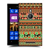 Head Case Orange Floral Aztec Protective Back Case Cover For Nokia Lumia 925