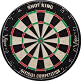Viper Shot King Sisal/Bristle Dartboard with Staple-Free Bullseye