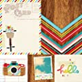Simple Stories Good Day Sunshine 4x4 Quote & 6x8 Photo Mat Elements Summer Scrapbook Paper