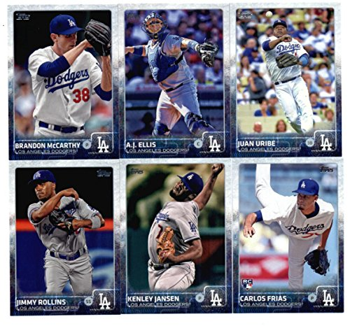 2015-topps-baseball-cards-los-angeles-dodgers-team-set-in-storage-case-series-1-2-22-cards-including