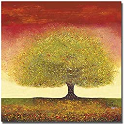 Dreaming Tree Red by Melissa Graves-Brown Premium Oversize Gallery-Wrapped Canvas Giclee Art (Ready-to-Hang)