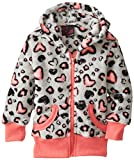 Girls Rule Little GirlsCheetah Heart Print Zipup Hoodie