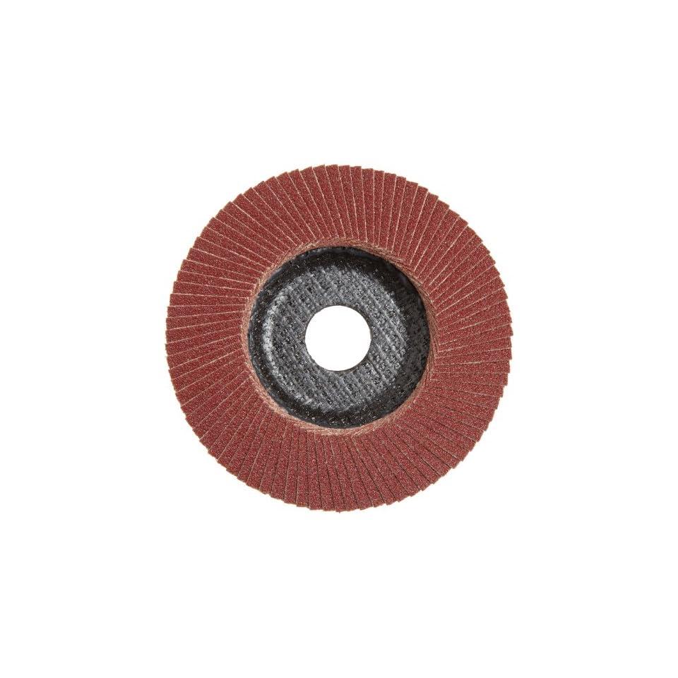 Phenolic Resin Backing Aluminum Oxide Pack of 1 PFERD Polifan SG Abrasive Flap Disc Round Hole Type 29 120 Grit 5 Dia.