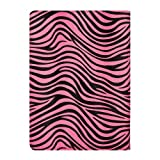 VanGoddy Mary Portfolio - WILD PINK WHITE ZEBRA Multi Purpose Book Style Slim Flip Cover Case for ASUS PadFone X Android Tablet + White Hands-free Earphones Headphones w/ Microphone