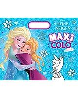 La Reine des neiges : Maxi colo avec des stickers