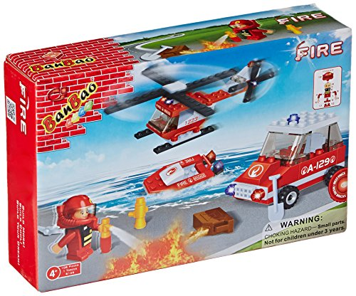 BanBao Fire Fighting Building Set, 110-Piece - 1