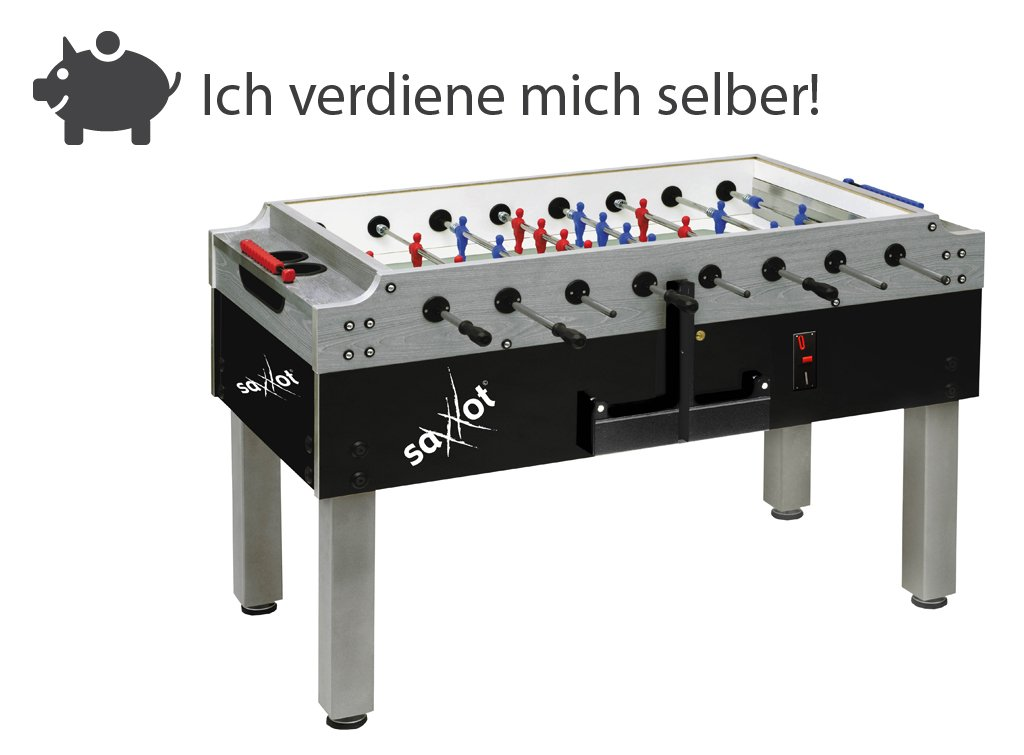 Münz Kickertisch SaXXot Champion F2 LED-Beleuchtung und Münzeinwurf günstig kaufen